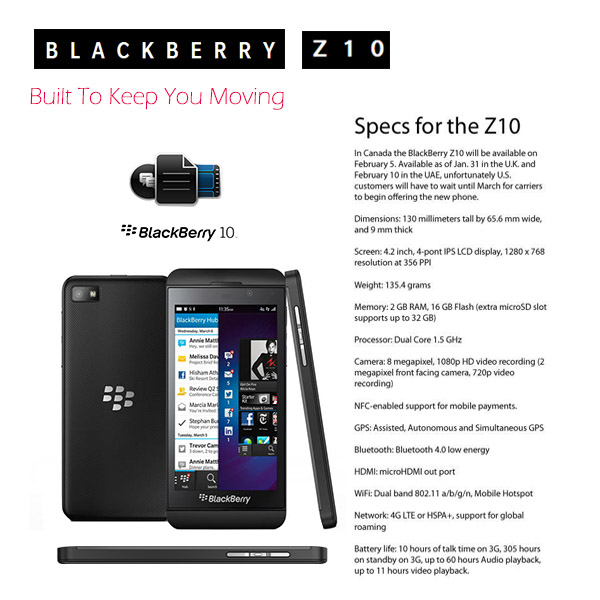 Blackberry Z10 SIM Free From PrePayMania