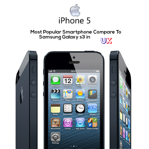 iPhone 5 Most Popular Smartphone Compare to Samsung Galaxy S3 in UK