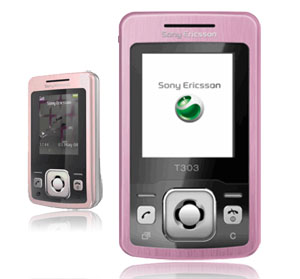 Sony Ericsson T303 Pink Mobile Phone on T-Mobile