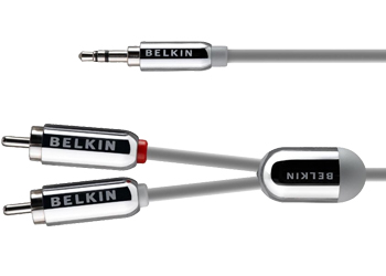 Belkin Stereo Cable for iPhone - Audio cable -phone stereo 3.5 mm (M) - RCA (M) - 2.1 m