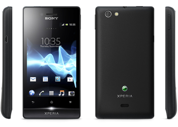 Sony Xperia Miro Android O2 Pay As You Go Mobile Phone Black