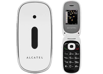 Alcatel OT-665 Orange Pay As You Go Mobile Phone White 