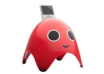 Amethyst iGhost Apple iPod Speaker Dock Red