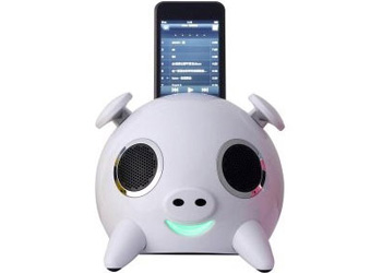Amethyst iPig Touch Sensitive Apple iPod Speaker Dock White