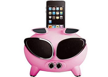 Amethyst iNinja Touch Sensitive Apple iPod Superpig Dock Pink