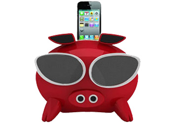 Amethyst iNinja Touch Sensitive Apple iPod Superpig Dock Red