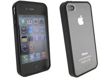 apple iphone 4 window case, cover, shell black
