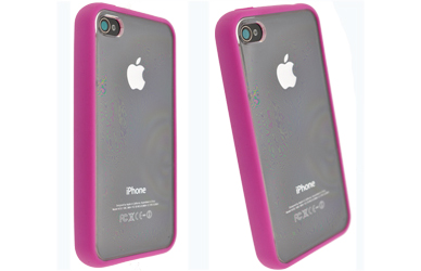 apple iphone 4 window case, cover, shell pink