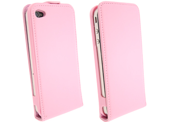 apple iphone 4 pink executive leather slim case