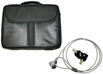 laptop carry case cable lock packed