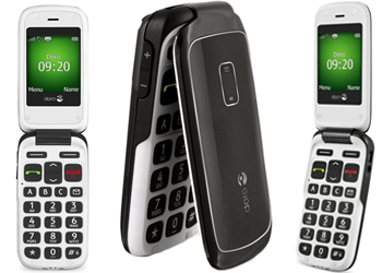 Doro Phone Easy 610 O2 Pay As You Go Mobile Phone- Black