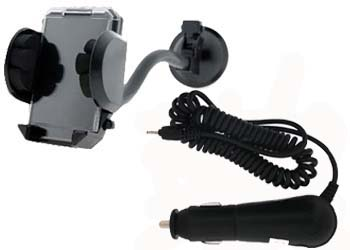 PrePayMania Windsreen Holder with ROHS & In Car Charger for Nokia