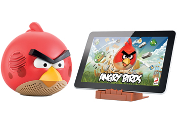 Gear 4 Angry Birds Docking Speaker for iPod, iPhone, iPad - Red Bird