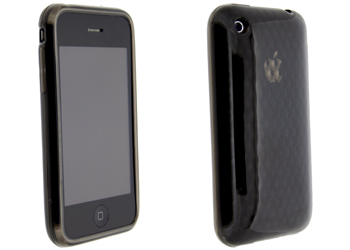 Fonerange black protective jelly case back shell for apple iphone 3g/3gs