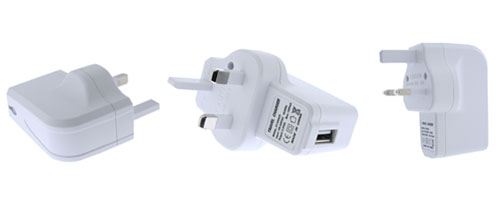 Fonerange apple iphone travel charger head with usb port white