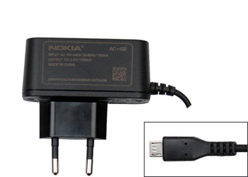 Nokia AC-10 Euro 2-Pin Plug Mains Travel Charger