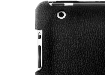 iPad 2/3/4 Retina 360 Rotating Leather Stand Cover Case -Black
