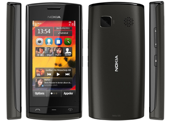 Nokia 500 Sim Free Unlocked Mobile Phone Black