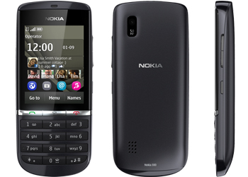 Nokia Asha 300 O2 Pay As You Go Mobile Phone  Graphite