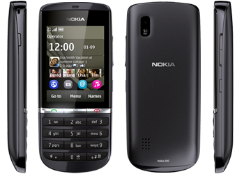 Nokia Asha 300 Vodafone Pay As You Go Mobile Phone Graphite