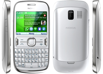 Nokia Asha 302 Vodafone Pay As You Go Mobile Phone - White