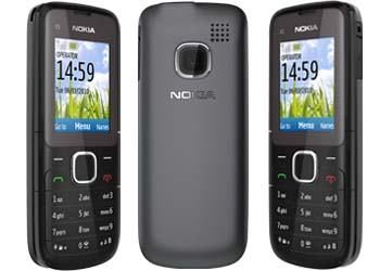 Nokia C1-01 T-Mobile Pay As You Go Mobile Phone - Dark Grey