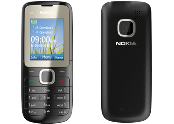 Nokia C2-00 Sim Free Unlocked Mobile Phone - Black