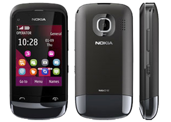 Nokia C2-02 Touch & Type Vodafone Pay As You Go Mobile Phone Black