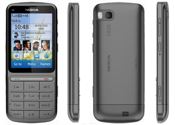 Nokia C3-01Touch & Type Sim Free Unlocked Mobile Phone - Grey