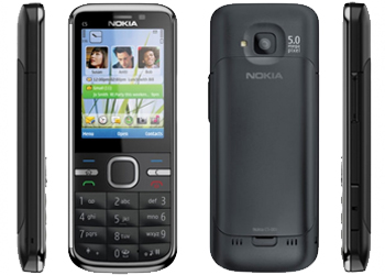Nokia C5-00.2 Sim Free Unlocked Mobile Phone Black