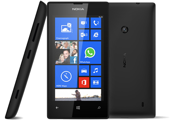 Nokia Lumia 520 on T-Mobile Pay As You Go / Payg Mobile Phone - Faith Black