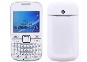 prepaymania fone talk & text simfree mobile phone - white