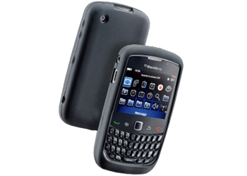 Fonerange silicone skin case black for blackberry