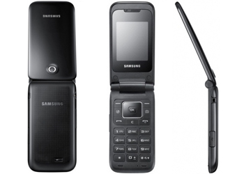 Samsung E2530 Flip Sim Free Unlocked Mobile Phone - Black