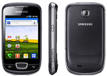 Samsung Galaxy Mini S5570 Orange Pay As You Go Phone Black