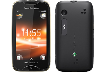 Sony Ericsson Mix Walkman Black/Green Phone on Vodafone Pay As You Go