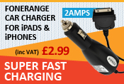 Car Charger for iPads, iPhones