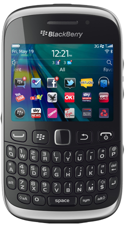 BlackBerry Curve 9320 Orange Pay as you go Mobile Phone - Black