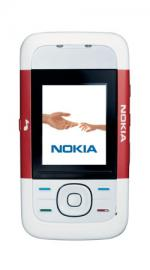 Nokia 5200 Xpress Music Red & White On Orange PAYG Mobile Phone