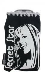 Hannah Montana Mobile Phone Socks Black