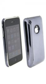 Fonerange Black Back Chrome Shell for Apple iPhone 3G and 3GS