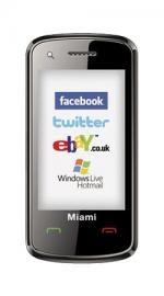 Miami Black Mobile Phone on Orange PAYG