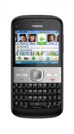 Nokia E5 Black Mobile Phone On Three Pay As You Go