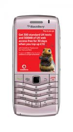 Blackberry Pearl 9105 3G Pink Mobile Phone on Vodafone PAYG
