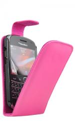 Fonerange Blackberry Bold 9900 Flip Pink Case Cover with Screen Protector