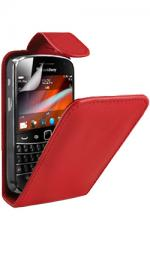 Fonerange Blackberry Bold 9900 Flip Red Case Cover with Screen Protector