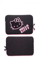 Hello Kitty Laptop Sleeve 15.4-inch- Black and Pink