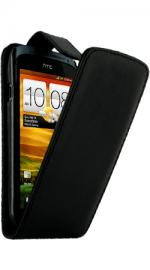 Fonerange HTC ONE S Flip Case Cover Black with Screen Protector