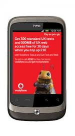 HTC Wildfire Vodafone Pay As You Go Mobile Phone