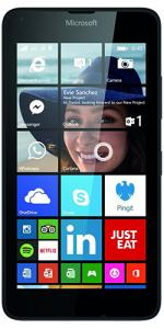 Microsoft Lumia 640 Sim Free Windowsphone 8GB - Black